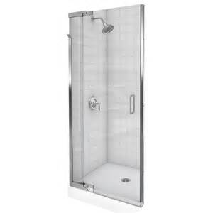 Purist 39 quot to 42 quot frameless pivot shower door with crystal clear glass