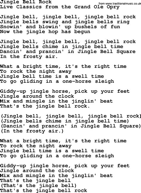 testo jingle bell jingle bell rock by marty robbins lyrics