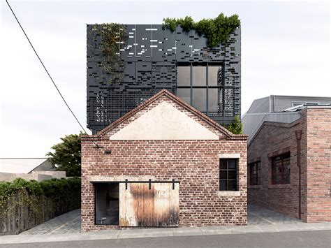 these warehouse homes a original metal brick facade