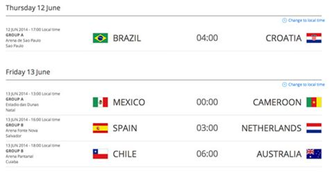 schedule photoshop world how to convert world cup match schedule to your time zone