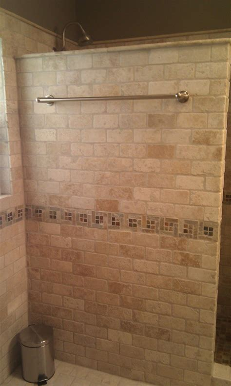bathroom travertine subway tile home design mosaic