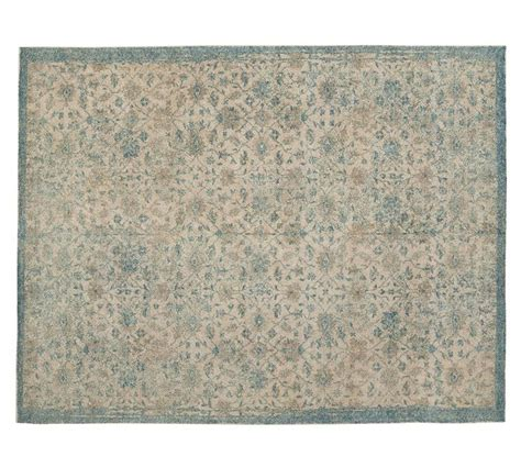 langley printed rug by pottery barn back room