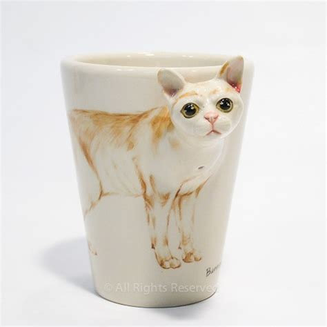 bermese cat ceramic coffee mug cup home decor decoration