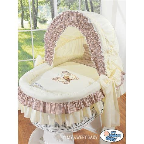 neonato vimini neonato vimini orsacchiotto beige culle vimini