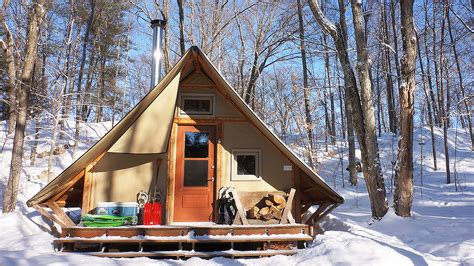 Tiny Cabin Homes 270 sq ft off grid prospector style tent