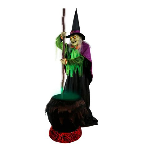 Faucets Home Depot Home Accents Holiday 80 In Gertie Cauldron Witch 5124417