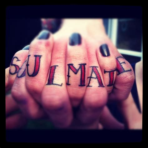 soulmate tattoo soulmate want 2 be fit