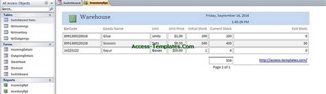 ms access warehouse management template access templates inventory management database tutorial