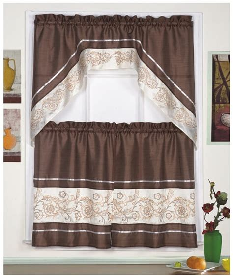 Kitchen Curtains Coffee Theme 8 Adorable Coffee Themed Kitchen Curtains 40 00