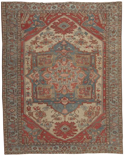 antique heriz serapi rug 44537 for sale