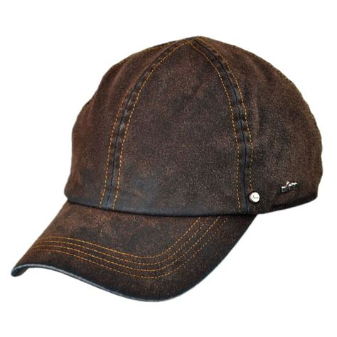 wigens caps suede denim baseball cap with earflaps all new