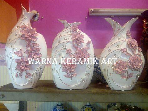 Vas Bunga Keramik Bambu jual pajangan dan keramik vas permata bunga pink s3 harga