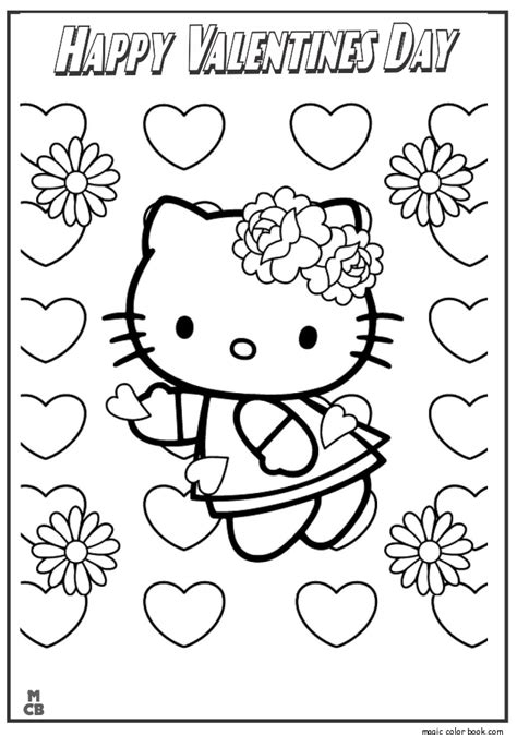 hello kitty coloring pages valentines day free printable hello kitty valentine coloring pages