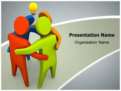 17 Best Images About Teamwork Powerpoint Template Designs On Pinterest Colors Business Community Service Powerpoint Template