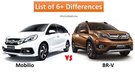 Honda BRV vs Mobilio: List of 6  Differences & Price Comparo