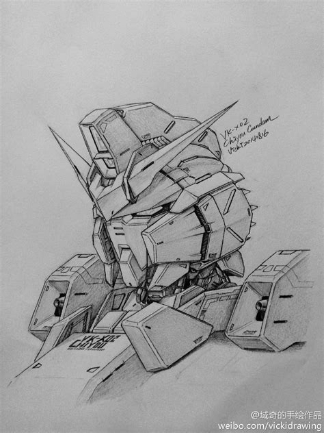sketch book vk chiyou gundam vk x02 catch a mech or like