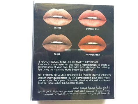 Liquid Mate Lip Edition Lipstick Cair huda the edition liquid matte minis lipstick set review swatches
