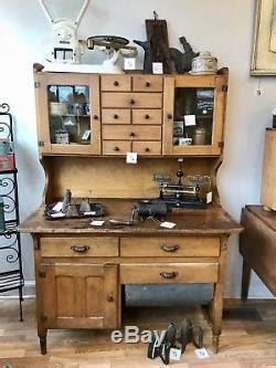 1900/1950s Country Primitive Kitchen Hoosier Cabinet