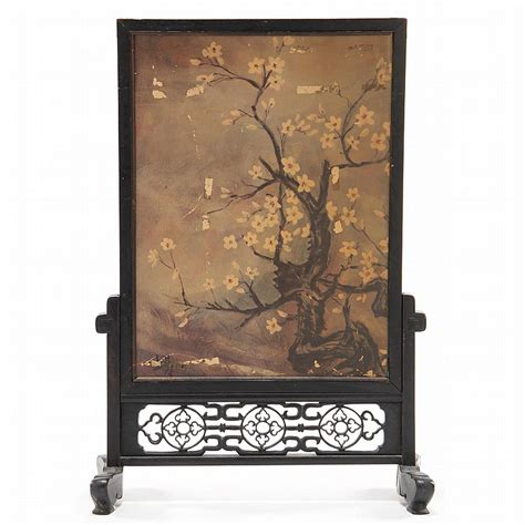 chinese carved fire screen