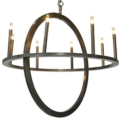 Circle Chandelier Light Randall Industrial Loft Metal Circle Pendant Light Kathy