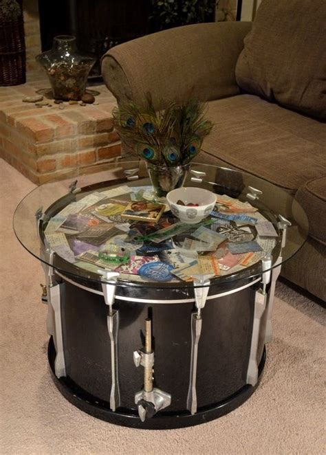 bass drum coffee table the drummer
