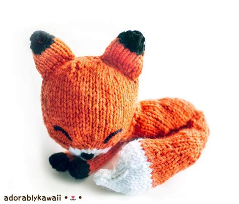 amigurumi knitting patterns knit sleepy fox amigurumi by adorably kawaii craftsy