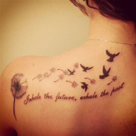 past and future tattoos my newest quot inhale the future exhale the past