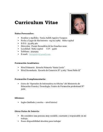 Resume Writer Free by Modelo De Curriculum Vitae Mexico Modelo De Curriculum Vitae