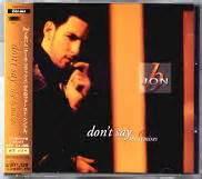 jon b don t say jon b cd single at matt s cd singles