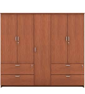 marc five door wardrobe with drawer in oak finish by