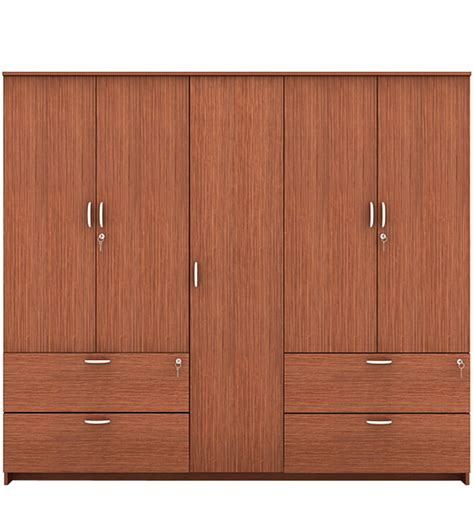 Wardrobes On Line by Marc Five Door Wardrobe With Drawer In Oak Finish By