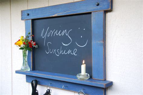 Kitchen Chalkboard With Shelf by Rustic Chalkboard Periwinkle With Shelf From