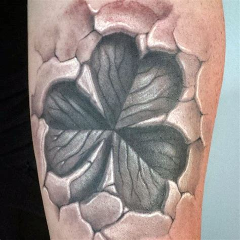 breaking skin tattoo 60 four leaf clover designs for luck ink