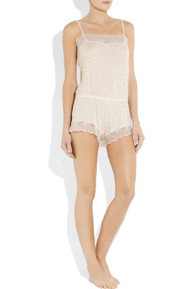 designer shop eberjey at net a porter net eberjey dolores lace trimmed stretch jersey playsuit