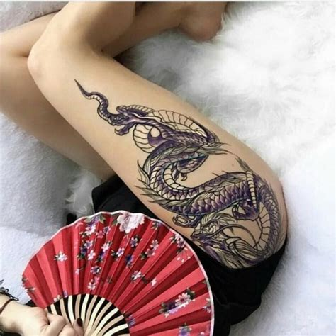 tattoo dragon woman dragon thigh tattoo designs ideas and meaning tattoos