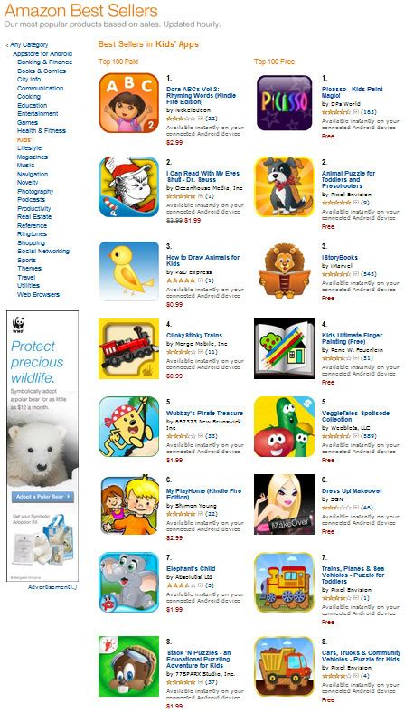 amazon top 10 3 apps in amazon s top 10 best sellers for kids pixel