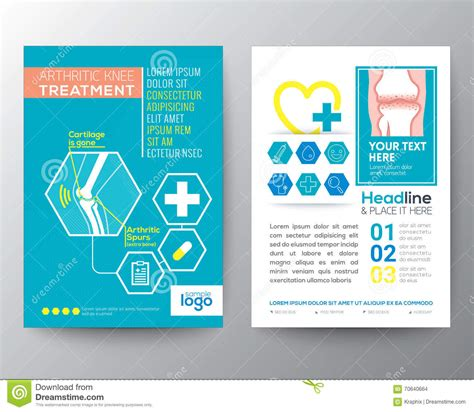 design for health health care and medical poster brochure flyer design