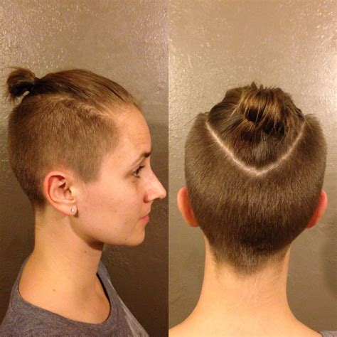 hair cuts great or knot brandy top knot ponytail undercut hairs pinterest knotted