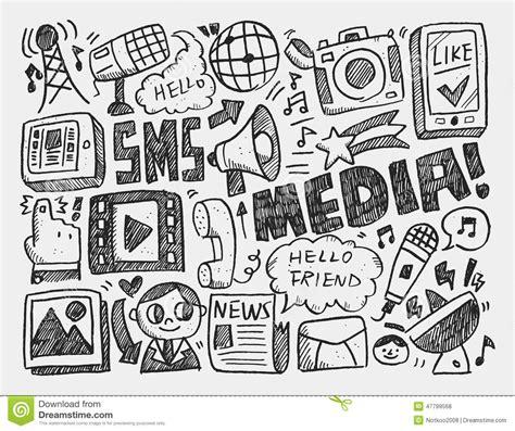 doodle sign up for event doodle media background stock vector illustration of