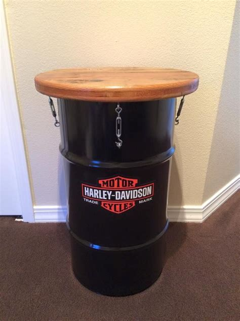 Harley Davidson Table by Harley Barrel Table Harley Barrel Table Barrel L