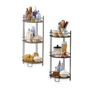 3 tier corner storage shelf bed bath beyond