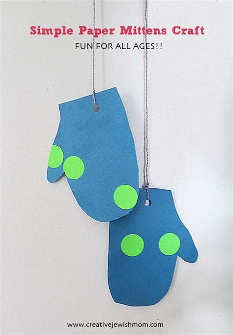 simple winter crafts for winter craft for simple paper mittens creative