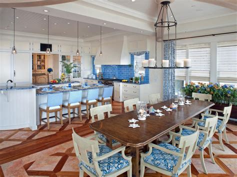 kitchen dining room remodel coastal kitchen and dining room pictures hgtv
