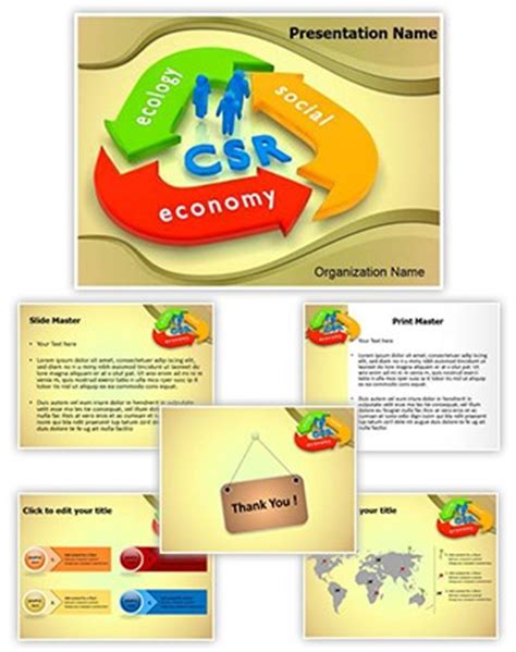 Professional Csr Lifecycle Editable Powerpoint Template Csr Ppt Templates Free