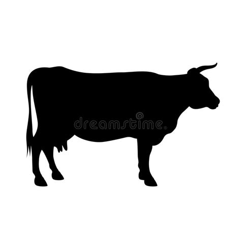 clipart mucca siluetta della mucca illustrazione vettoriale