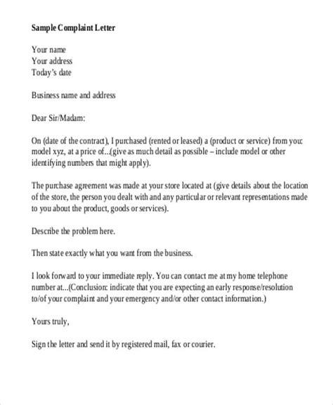 Business Letter Format For Government sle business complaint letter response oshibori info