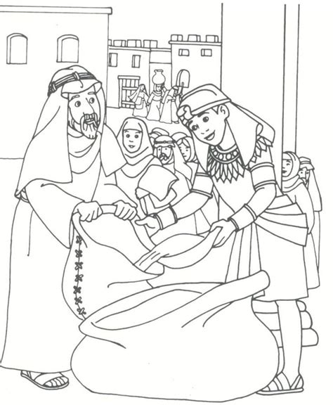 Joseph Sold Into Slavery Coloring Pages Google Search Coloring Page Coat Of Many Colors
