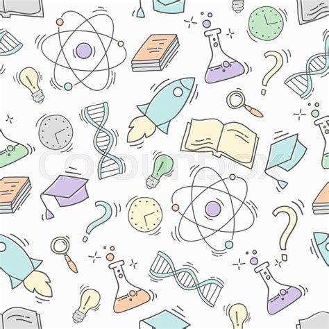 pattern background science hand drawn science seamless pattern chemistry sketch