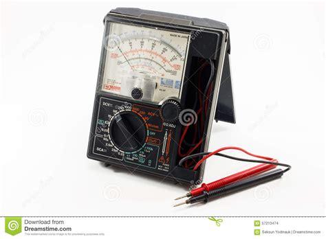 Multimeter Analog Winner vintage multimeter with battery stock photography