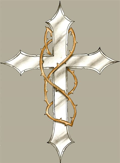 tattoo cross with thorns cross with thorns by potato7023 on deviantart